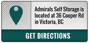 Admirals Self Storage is located at 36 Cooper Rd in Victoria, BC | Get Directions